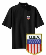 USA Short Sleeve Mock Turtleneck