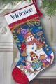 Cross Stitch Kit Cute Carolers Stocking From Dimensions