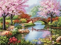 Cross Stitch Kit Japanese Garden From Dimensions Gold Collection