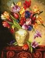 Cross Stitch Kit Parrot Tulips From Dimensions Gold Collection