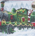 Cross Stitch Kit Santa Express From Dimensions