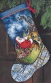 Cross Stitch Kit Santa's Flight Stocking From Dimensions Gold Collection