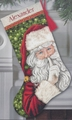Cross Stitch Kit Sectet Santa Stocking From Dimensions Gold Collection