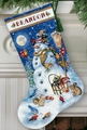 Cross Stitch Kit Snowman & Friends Stocking From Dimensions Gold Collection