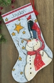 Cross Stitch Kit Tall Hat Snowman Stocking From Dimensions