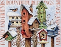 Cross Stitch Kit Winter Housing Birds From Dimensions
