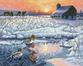 Cross Stitch Kit Winter Morning From Dimensions Gold Collection