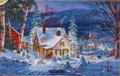 Cross Stitch Kit Winter's Hush From Dimensions Gold Collection