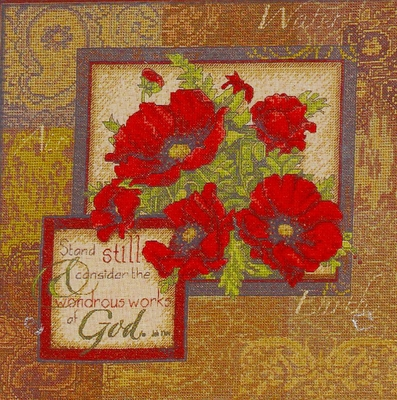 Cross Stitch Kit Wonderous Works Of God From Bucilla