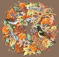 Cross Stitch Pattern Fall Wreath From Kooler Design Studio