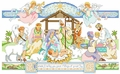 Cross Stitch PDF Pattern Nativity Nativity with Angels From Kooler Design Studio