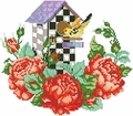 Cross Stitch PDF Pattern Roseland Birdhouse From Kooler Design Studio