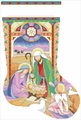 Cross Stitch PDF Pattern Stained Glass Nativity Stocking From Kooler Design Studio