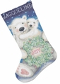 Needlepoint Kit Polar Bear Joy Stocking From Dimensions