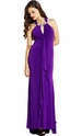 Beaded Bib Neckline Maxi Prom Dress