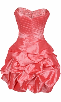 Beaded Taffeta Party Mini Prom Bubble Dress