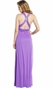 Cross-Back Crystal Prom Party Maxi Dress