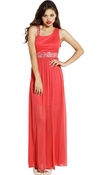 Chiffon Overlay Toga Bridesmaid Prom Dress