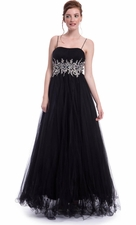 Chiffon Prom Dress Ball Gown Crystal Waist