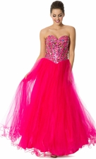 Corset Gem Prom Dress Ball Gown