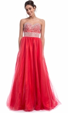 Crystal Strapless Ball Gown
