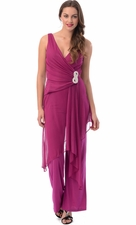 Mesh Bridesmaid Formal Jumper Pantsuit