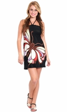 Graphic Butterfly Mini Dress