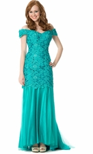 Lace Mermaid Red Carpet Dress Mother of the Bride