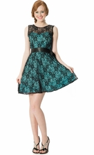 Lace Semi Formal Prom Dress