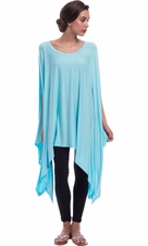 Loose Fit Poncho Tunic Dress