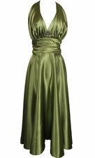 Marilyn Satin Halter Prom Bridesmaid Dress