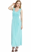 Mesh Wrap Bridesmaid Dress Prom Party