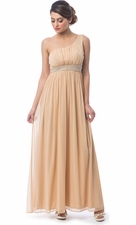 One Shoulder Chiffon Goddess Dress
