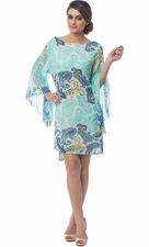 Paisley Bell Sleeve Tunic Dress