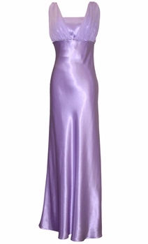 Satin Chiffon Bridesmaid Long Prom Dress Crystals