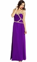 Sequined Chiffon Goddess Formal Gown Prom Dress