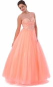 Jeweled Neckline Prom Dress Sweetheart Ball Gown