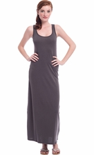 Solid Racerback Maxi Dress