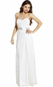 Strapless Twist Goddess Long Prom Dress Bridesmaid