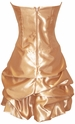Strapless Satin Bubble Prom Dress