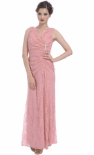 Stretch Lace Wrap Dress Mother of the Groom