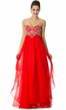Sweetheart Strapless Long Bridesmaid Prom Dress