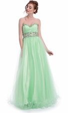 Sweetheart Crystal Prom Dress Ball Gown