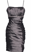 Taffeta Pleated Short Prom Dress LBD