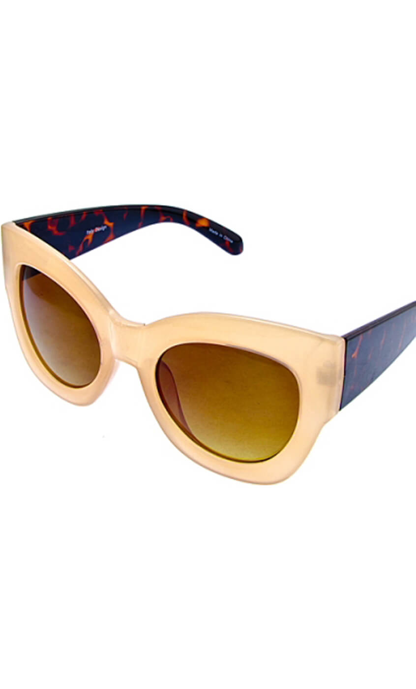 Thick Cat Eye Frame Sunglasses Shop All
