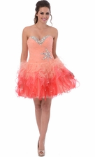 Ruffle Short Prom Dress Sweet 16