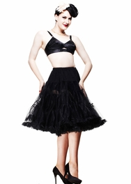 Black 50's Style Long Petticoat, by Hell Bunny