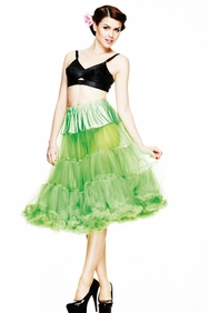 Lime Green 50's Style Long Petticoat, by Hell Bunny