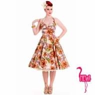NEW! Kaila Tiki Dress by Hell Bunny