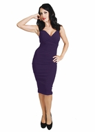 Purple Diva Wiggle Dress by Rock Steady